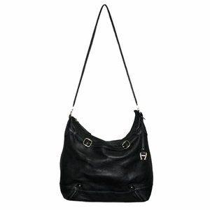 Etienne Aigner Black Leather Hobo Shoulder Bag